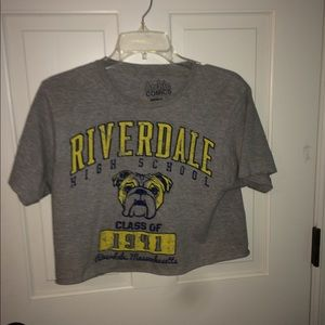 riverdale cropped tee